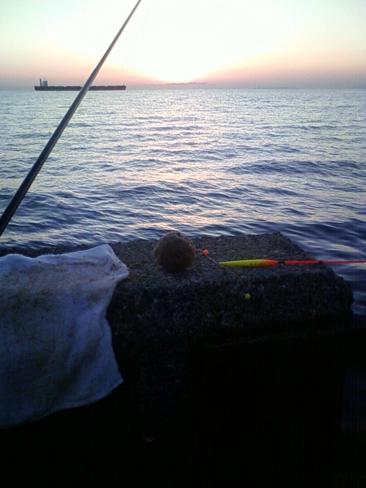 日が沈んだ和歌山北港海釣り公園