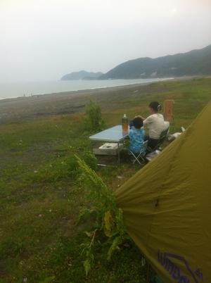煙樹ヶ浜でキャンプ