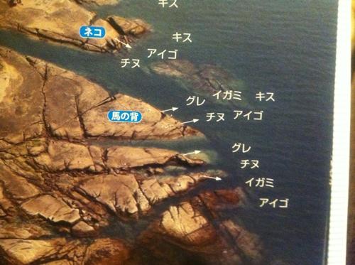 空撮 紀伊半島の釣り場
