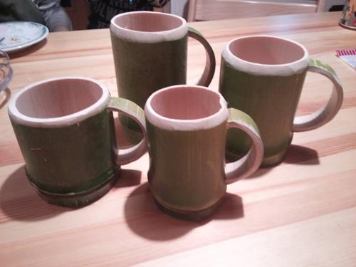 竹のマグカップ